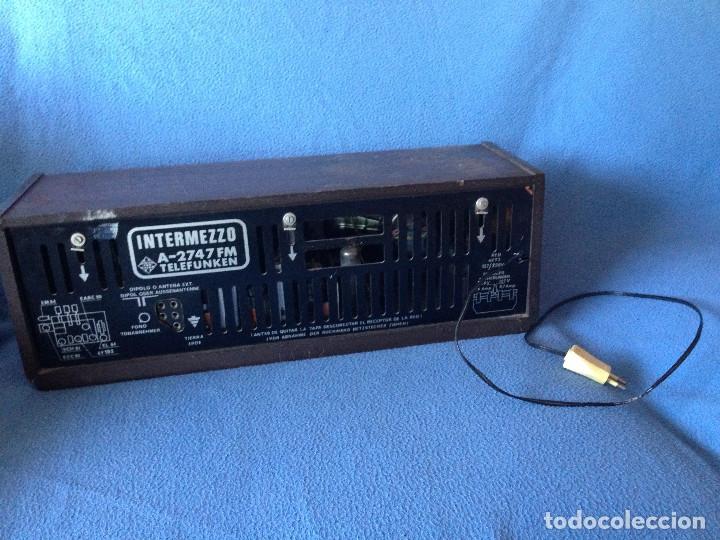 Radios de válvulas: RADIO VINTAGE TELEFUNKEN INTERMEZZO A-2747 FM. AÑOS 60.FUNCIONA, - Foto 7 - 175824430