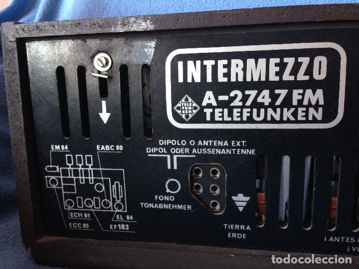 Radios de válvulas: RADIO VINTAGE TELEFUNKEN INTERMEZZO A-2747 FM. AÑOS 60.FUNCIONA, - Foto 8 - 175824430