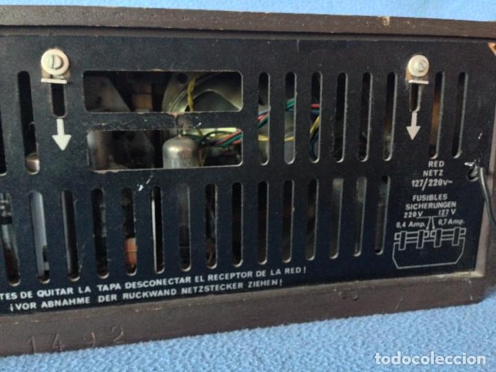 Radios de válvulas: RADIO VINTAGE TELEFUNKEN INTERMEZZO A-2747 FM. AÑOS 60.FUNCIONA, - Foto 9 - 175824430