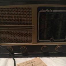 Radios de válvulas: RADIO INVICTA MODELO 319 AÑO 1946 CON FACTURA Y RECIBO DE COMPRA. Lote 176837684