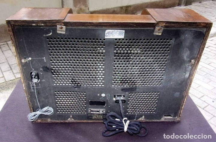 Radios de válvulas: ANTIGUA RADIO PHILIPS 461. FUNCIONANDO. 125 V. AÑOS 1937. ORIGINAL DE ÉPOCA. BUEN ESTADO. - Foto 3 - 178765505