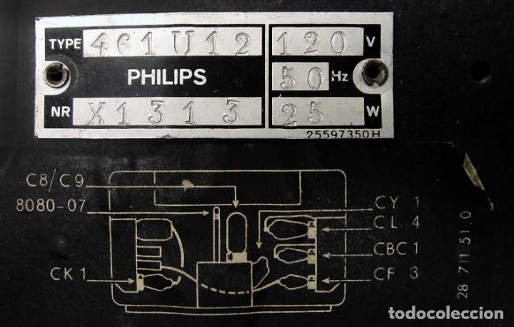 Radios de válvulas: ANTIGUA RADIO PHILIPS 461. FUNCIONANDO. 125 V. AÑOS 1937. ORIGINAL DE ÉPOCA. BUEN ESTADO. - Foto 4 - 178765505