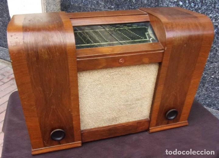 Radios de válvulas: ANTIGUA RADIO PHILIPS 461. FUNCIONANDO. 125 V. AÑOS 1937. ORIGINAL DE ÉPOCA. BUEN ESTADO. - Foto 5 - 178765505