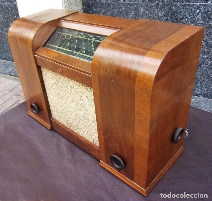 Radios de válvulas: ANTIGUA RADIO PHILIPS 461. FUNCIONANDO. 125 V. AÑOS 1937. ORIGINAL DE ÉPOCA. BUEN ESTADO. - Foto 6 - 178765505