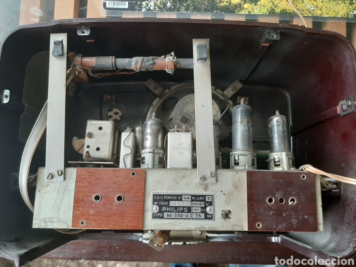 Radios de válvulas: Radio de valvulas Philips U-352 - Foto 4 - 178989477