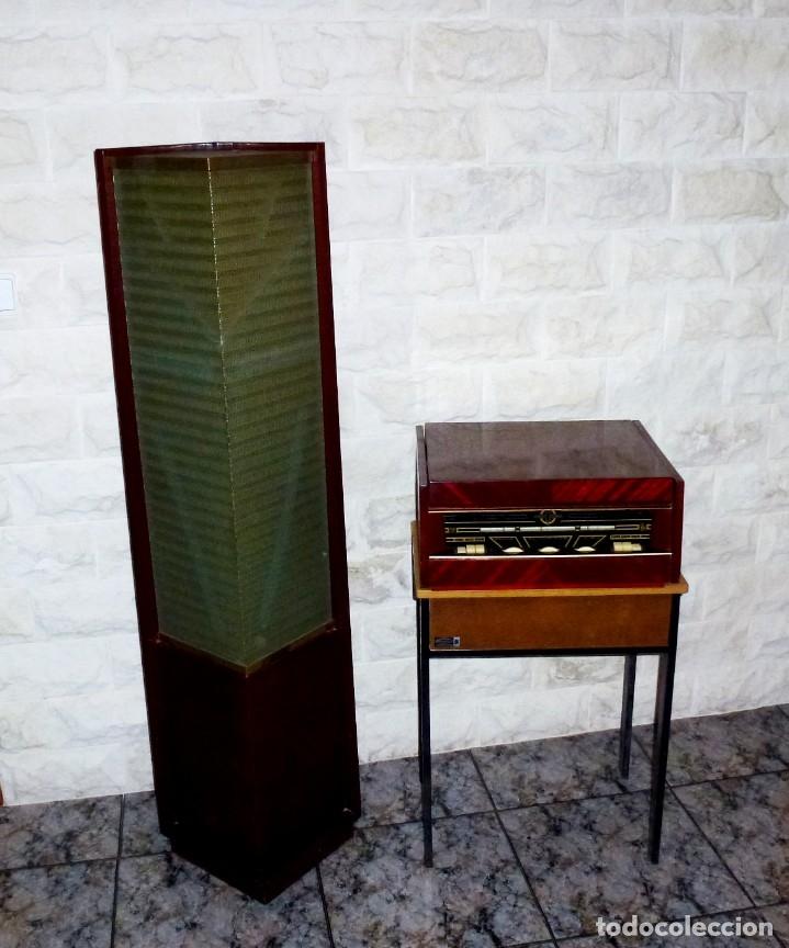 FANTASTICO RADIO TOCADISCOS.ELECTROFONO - THOMSON DUCRETET CON ALTAVOZ DE COLUMNA.140 CM. (Radios, Gramófonos, Grabadoras y Otros - Radios de Válvulas)