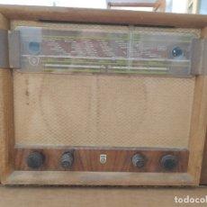 Radios de válvulas: RADIO ANTIGUA DE VÁLVULAS PHILIPS BX600A - PARA RESTAURAR O DONANTE DE PIEZAS. Lote 182304178