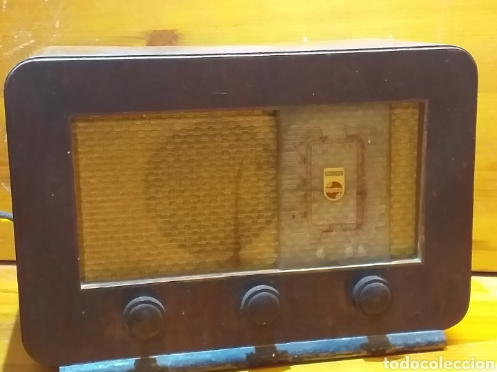 ANTIGUA RADIO DE VÁLVULAS PHILIPS COMPLETA SIN PROBAR 35X24X17 CM. (Radios, Gramófonos, Grabadoras y Otros - Radios de Válvulas)