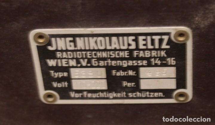 Radios de válvulas: Aparato de radio JNG Nicolaus Eltz Type 1938 - Foto 5 - 183552970