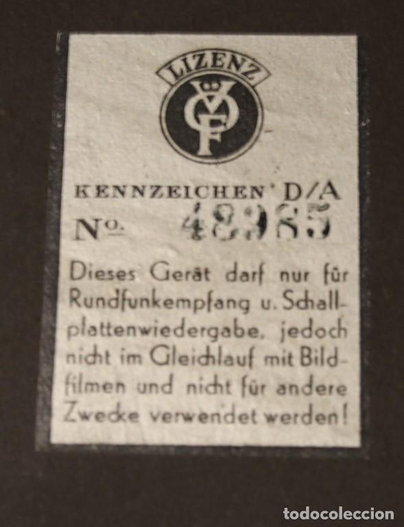 Radios de válvulas: Aparato de radio JNG Nicolaus Eltz Type 1938 - Foto 6 - 183552970