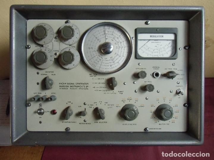 FM/AM SIGNAL GENERATOR MARCONI INSTRUMENTS LTD.TF995A/5,Nº52710/46.MADE IN ENGLAND. (Radios, Gramófonos, Grabadoras y Otros - Radios de Válvulas)