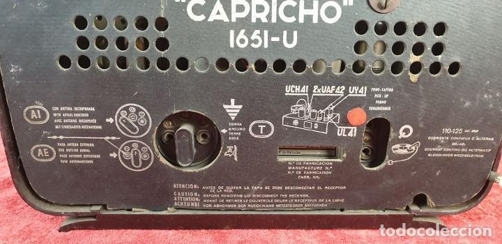 Radios de válvulas: RADIO A VÁLVULAS TELEFUNKEN CAPRICHO 1651-U. BAQUELITA. CIRCA 1950. - Foto 12 - 183643336