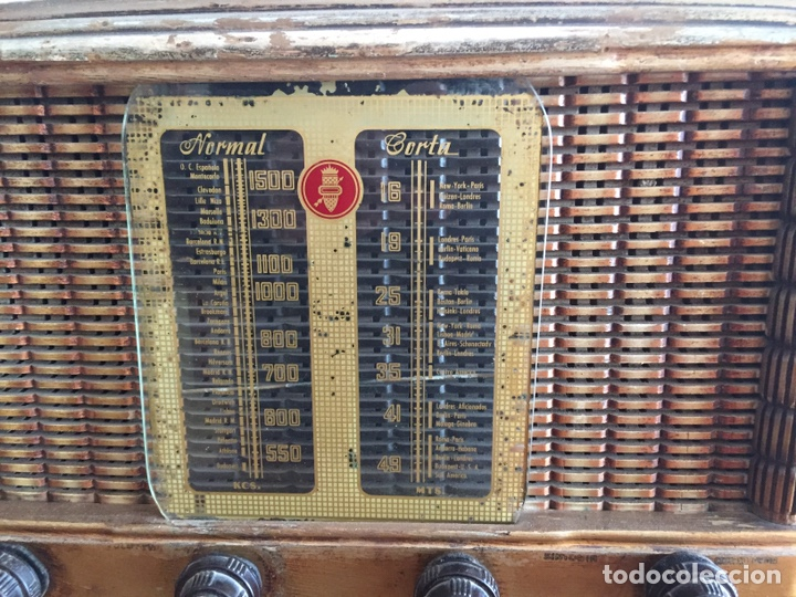 Radios de válvulas: Antigua radio - Foto 3 - 183952107
