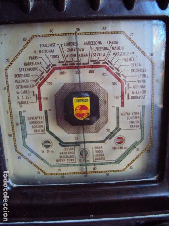 Radios de válvulas: (RA-191100)RADIO DE BAQUELITA PHILIPS - Foto 2 - 184295488