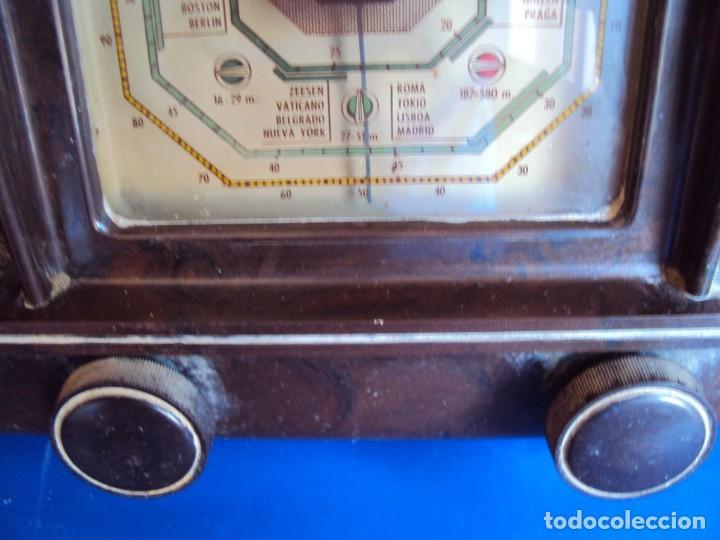 Radios de válvulas: (RA-191100)RADIO DE BAQUELITA PHILIPS - Foto 3 - 184295488