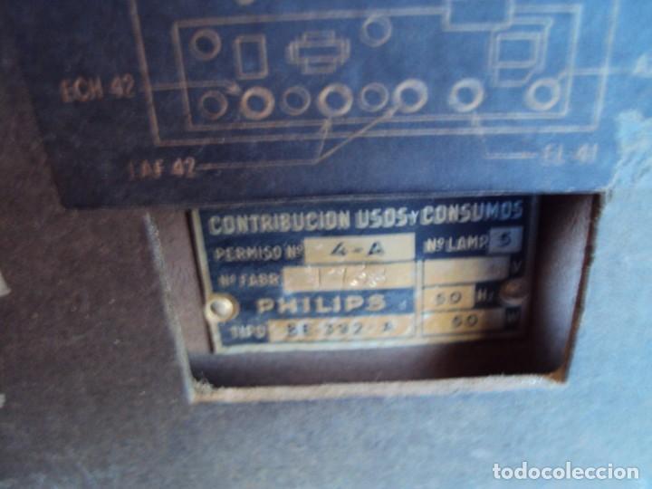 Radios de válvulas: (RA-191100)RADIO DE BAQUELITA PHILIPS - Foto 13 - 184295488