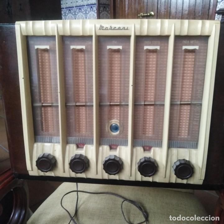 ANTIGUA RADIO MARCONI (Radios, Gramófonos, Grabadoras y Otros - Radios de Válvulas)
