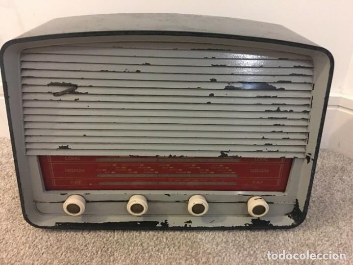 RADIO ANTIGUA FUNCIONANDO MARCONIPHONE T84 BT (Radios, Gramófonos, Grabadoras y Otros - Radios de Válvulas)