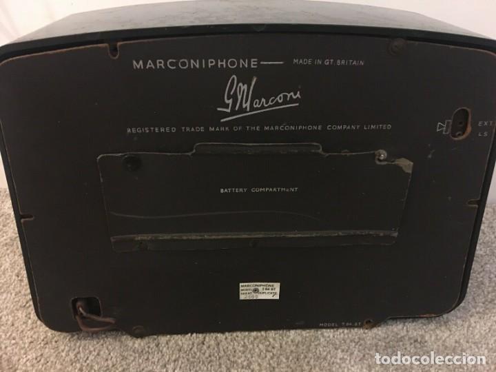 Radios de válvulas: RADIO ANTIGUA FUNCIONANDO MARCONIPHONE T84 Bt - Foto 7 - 189140871