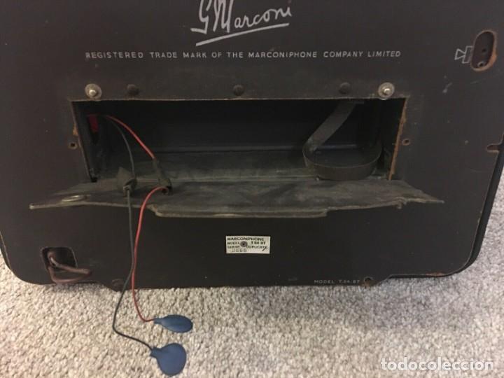 Radios de válvulas: RADIO ANTIGUA FUNCIONANDO MARCONIPHONE T84 Bt - Foto 8 - 189140871