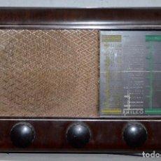 Radios de válvulas: ANTIGUA RADIO PHILCO. PARA REPARAR.. Lote 190579747