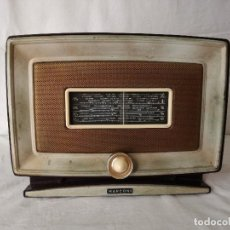 Radios de válvulas: ORIGINAL RADIO ITALIANA MARCONI DE MEDIADOS DEL SIGLO XX, EN FUNCIONAMIENTO.. Lote 191392552