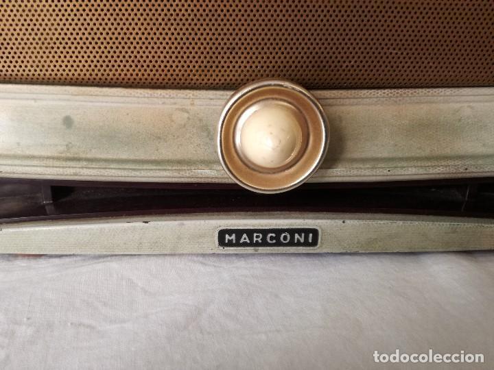 Radios de válvulas: ORIGINAL RADIO ITALIANA MARCONI DE MEDIADOS DEL SIGLO XX, EN FUNCIONAMIENTO. - Foto 2 - 191392552