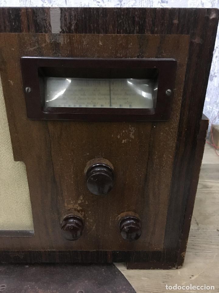 Radios de válvulas: RADIO MARCONI TYPE 155, CINQ 534. AÑO 1933/1934. FRANCIA. FUNCIONA 125V - Foto 2 - 192796497