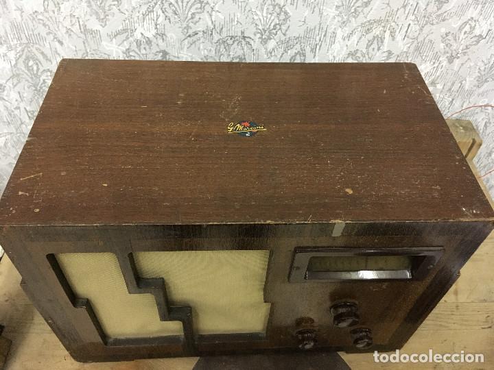 Radios de válvulas: RADIO MARCONI TYPE 155, CINQ 534. AÑO 1933/1934. FRANCIA. FUNCIONA 125V - Foto 5 - 192796497
