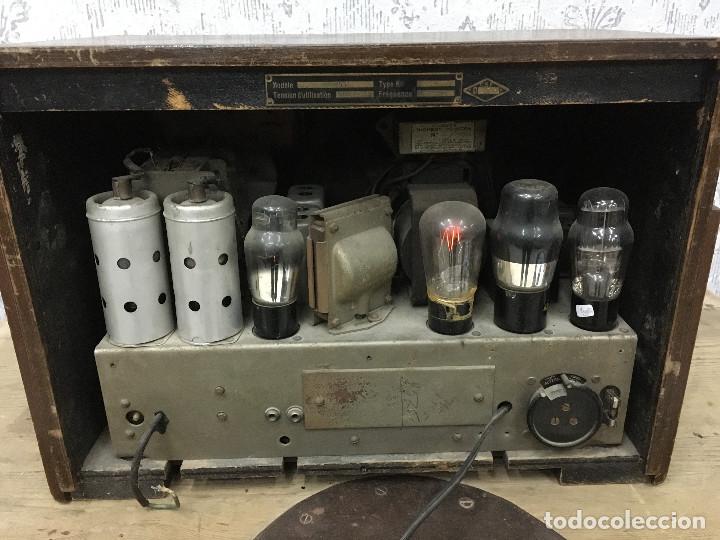 Radios de válvulas: RADIO MARCONI TYPE 155, CINQ 534. AÑO 1933/1934. FRANCIA. FUNCIONA 125V - Foto 11 - 192796497