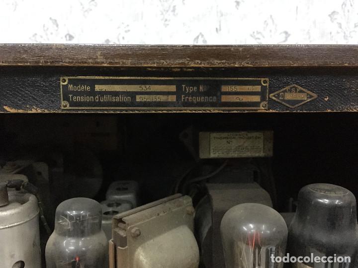 Radios de válvulas: RADIO MARCONI TYPE 155, CINQ 534. AÑO 1933/1934. FRANCIA. FUNCIONA 125V - Foto 12 - 192796497