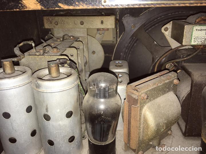 Radios de válvulas: RADIO MARCONI TYPE 155, CINQ 534. AÑO 1933/1934. FRANCIA. FUNCIONA 125V - Foto 15 - 192796497