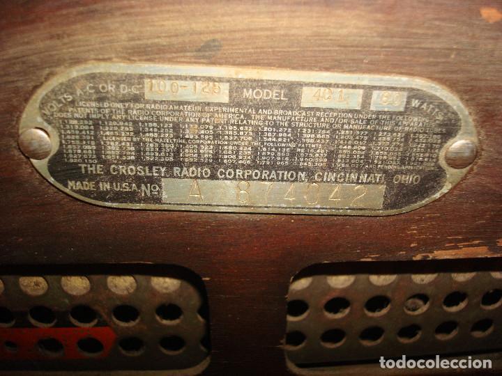Radios de válvulas: Radio Crosley Corp;4C1 - Foto 8 - 194000148