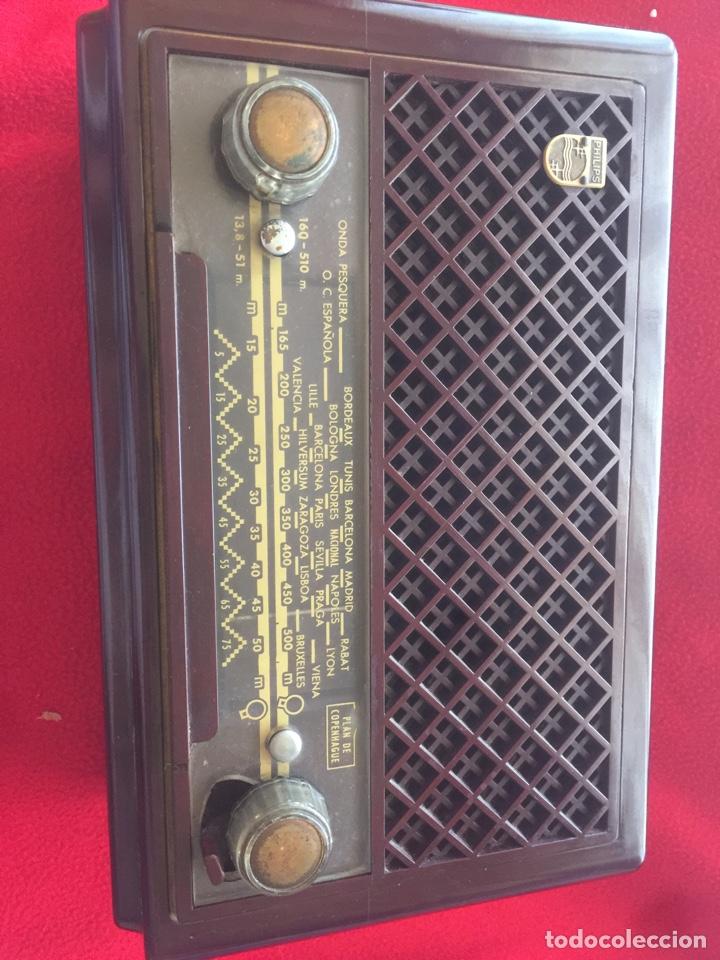 RADIÓ PHILIPS BAQUELITA (Radios, Gramófonos, Grabadoras y Otros - Radios de Válvulas)