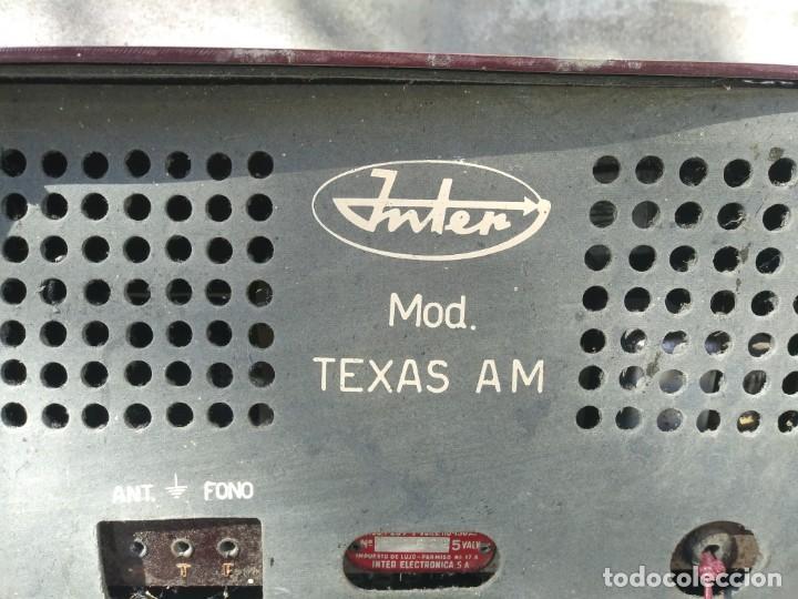 Radios de válvulas: Antigua radio INTER TEXAS modelo P. 239 madera válvulas - Foto 6 - 194099091