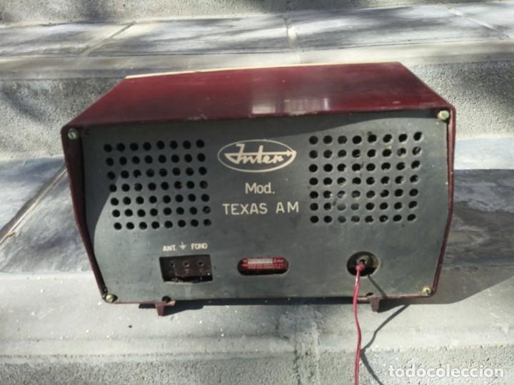 Radios de válvulas: Antigua radio INTER TEXAS modelo P. 239 madera válvulas - Foto 8 - 194099091