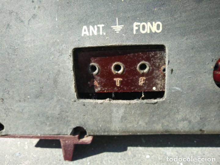 Radios de válvulas: Antigua radio INTER TEXAS modelo P. 239 madera válvulas - Foto 9 - 194099091