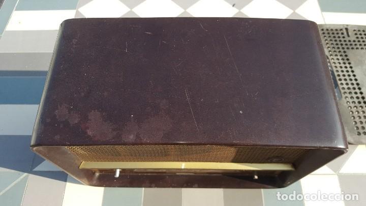 Radios de válvulas: Radio antigua baquelita de válvulas Ecko - Foto 3 - 194347035