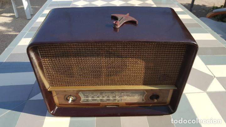 Radios de válvulas: Radio antigua baquelita de válvulas Ecko - Foto 4 - 194347035