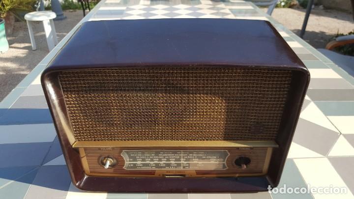 Radios de válvulas: Radio antigua baquelita de válvulas Ecko - Foto 5 - 194347035