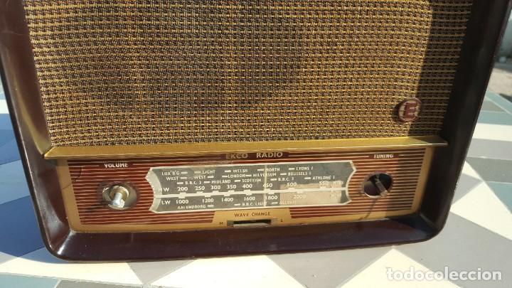 Radios de válvulas: Radio antigua baquelita de válvulas Ecko - Foto 7 - 194347035