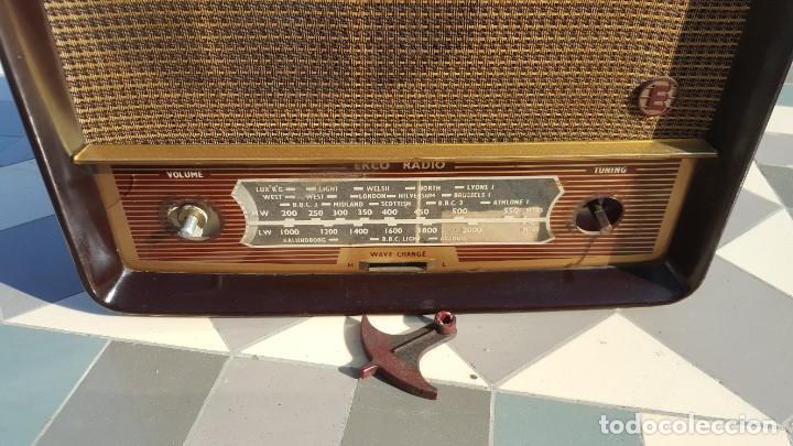 Radios de válvulas: Radio antigua baquelita de válvulas Ecko - Foto 8 - 194347035