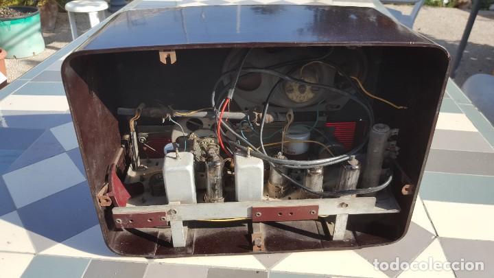 Radios de válvulas: Radio antigua baquelita de válvulas Ecko - Foto 9 - 194347035