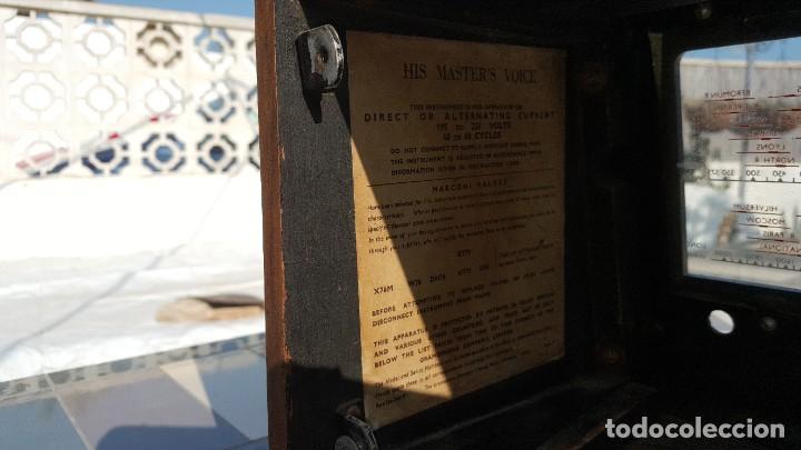 Radios de válvulas: Radio de valvulas HMV - His Masters Voice - Foto 13 - 194347331