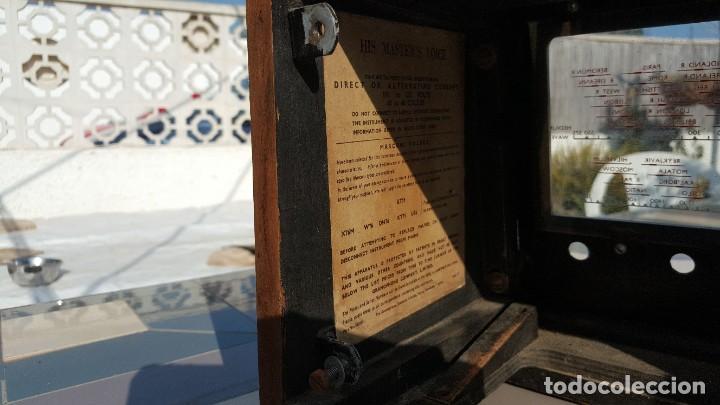 Radios de válvulas: Radio de valvulas HMV - His Masters Voice - Foto 16 - 194347331