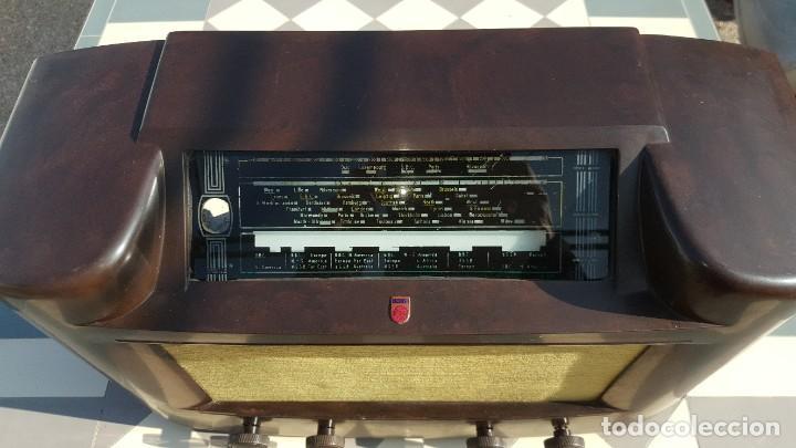 Radios de válvulas: Radio antigua de Valvulas Philips 170A-15 baquelita - Grande - Foto 3 - 194348258