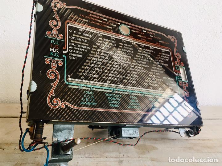Radios de válvulas: RADIO ANTIGUA CON DIAL DE CRISTAL RECEPTOR INTERNACIONAL DE FRECUENCIA APARATO RADIODIFUSION - Foto 13 - 194695343