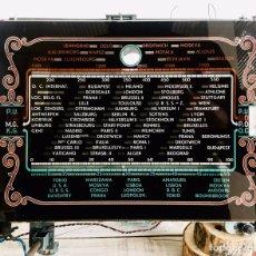 Radios de válvulas: RADIO ANTIGUA CON DIAL DE CRISTAL RECEPTOR INTERNACIONAL DE FRECUENCIA APARATO RADIODIFUSION. Lote 194695343