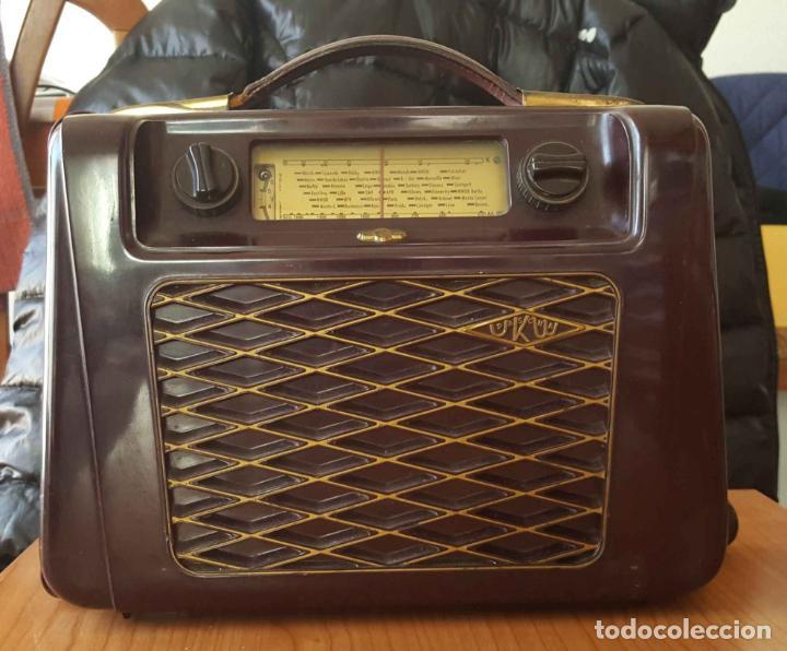 ANTIGUA RADIO KREFFT DE VÁLVULAS (ALEMANIA, 1950'S) PASCHA UKW. COLECCIONISTA. ORIGINAL (Radios, Gramófonos, Grabadoras y Otros - Radios de Válvulas)