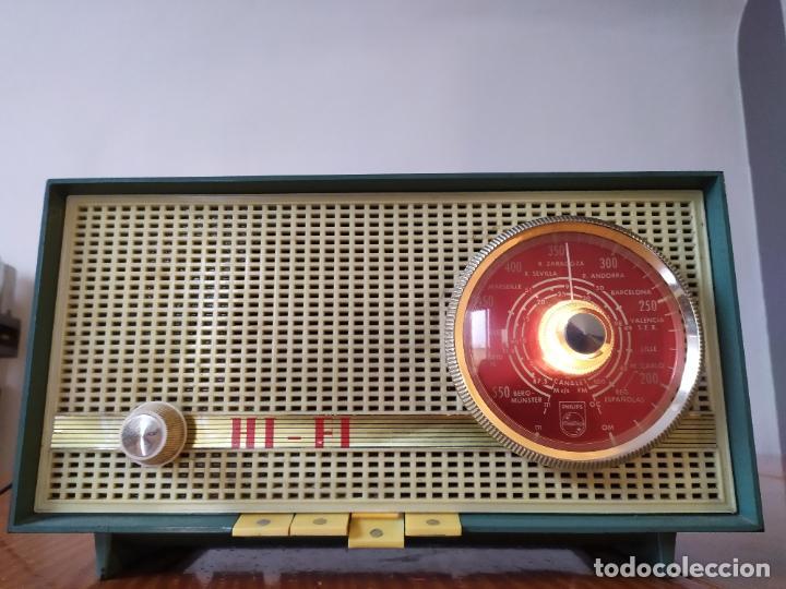 RADIO PHILIPS FUNCIONA (Radios, Gramófonos, Grabadoras y Otros - Radios de Válvulas)